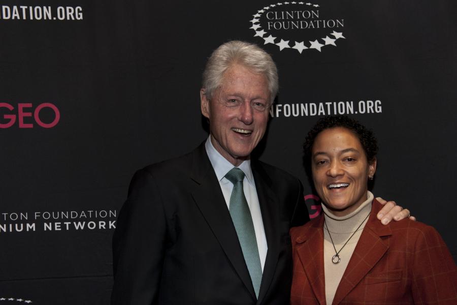 Cùng cựu tổng thống Mỹ Bill Clinton