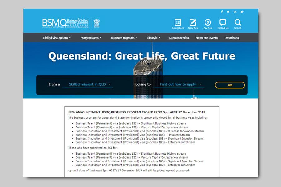Sau visa 188, Queensland tiếp tục tạm đóng visa 132 - chuyên gia định cư Úc Evertrust